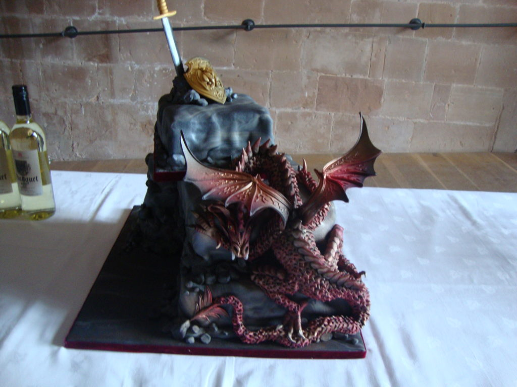 The incredible dragon cake made one of their friends