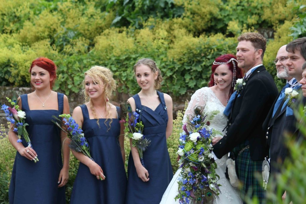 Exuberant Kenilworth castle wedding