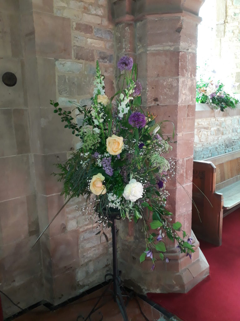 Another pedestal in the church which went onto a milk churn back at Park Farm