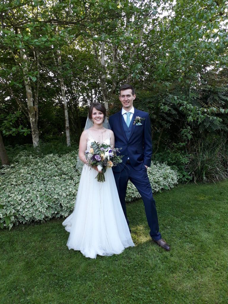Gorgeous couple in Park Farm, Shuckburgh's lovely garden