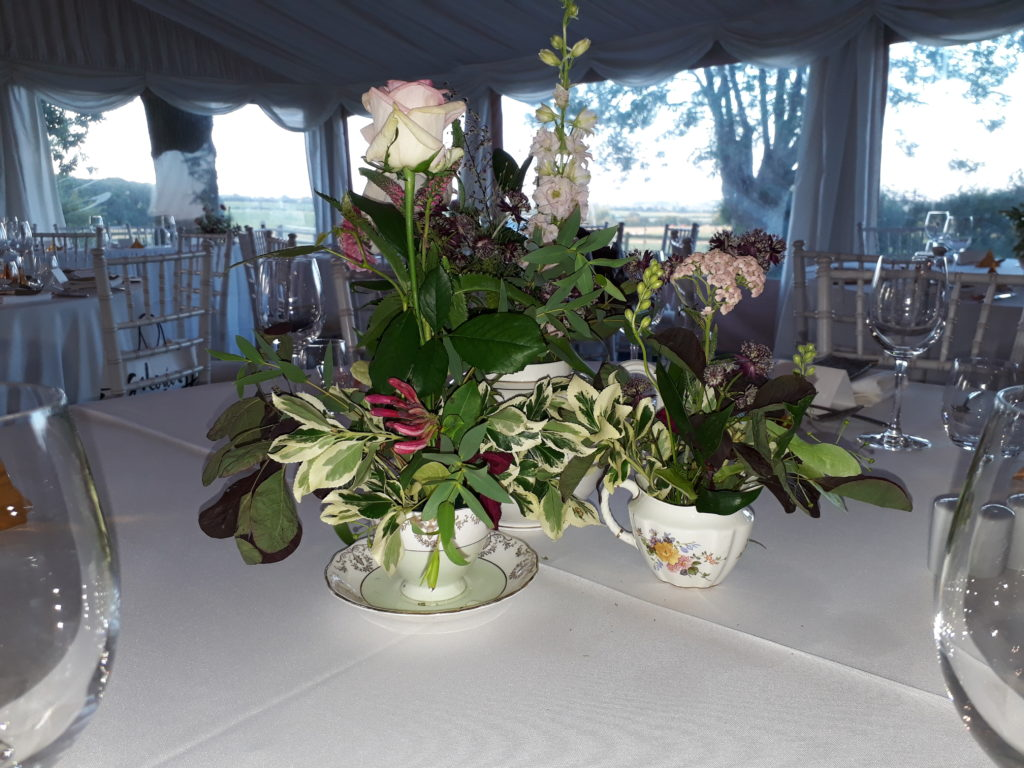 Vintage china table centres