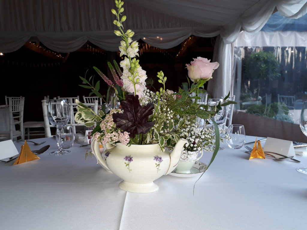 Attractive vintage china to create an English country garden tea party feel