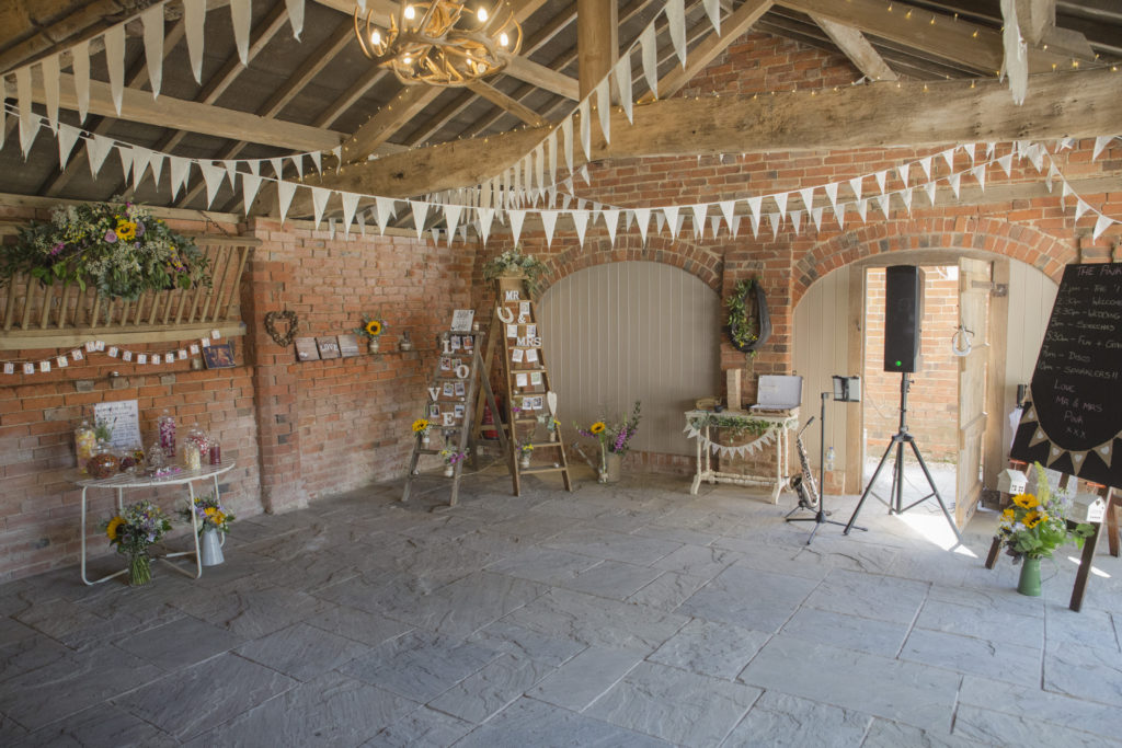 Setting the scene with some of our accessories at this lovely wedding - my first at gorgeous Park Farm
