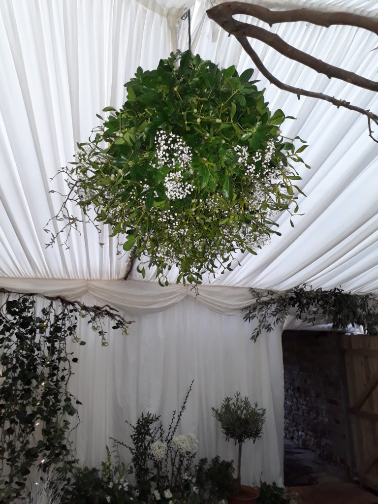 A big mistletoe ball