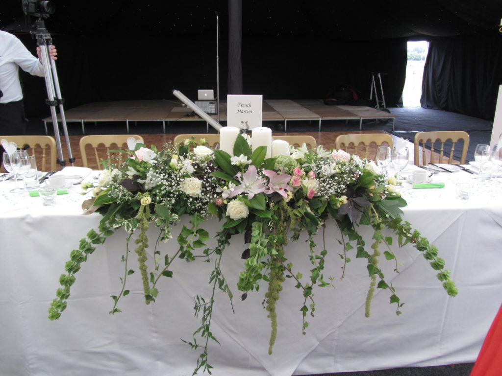 transferred from church screens to top table