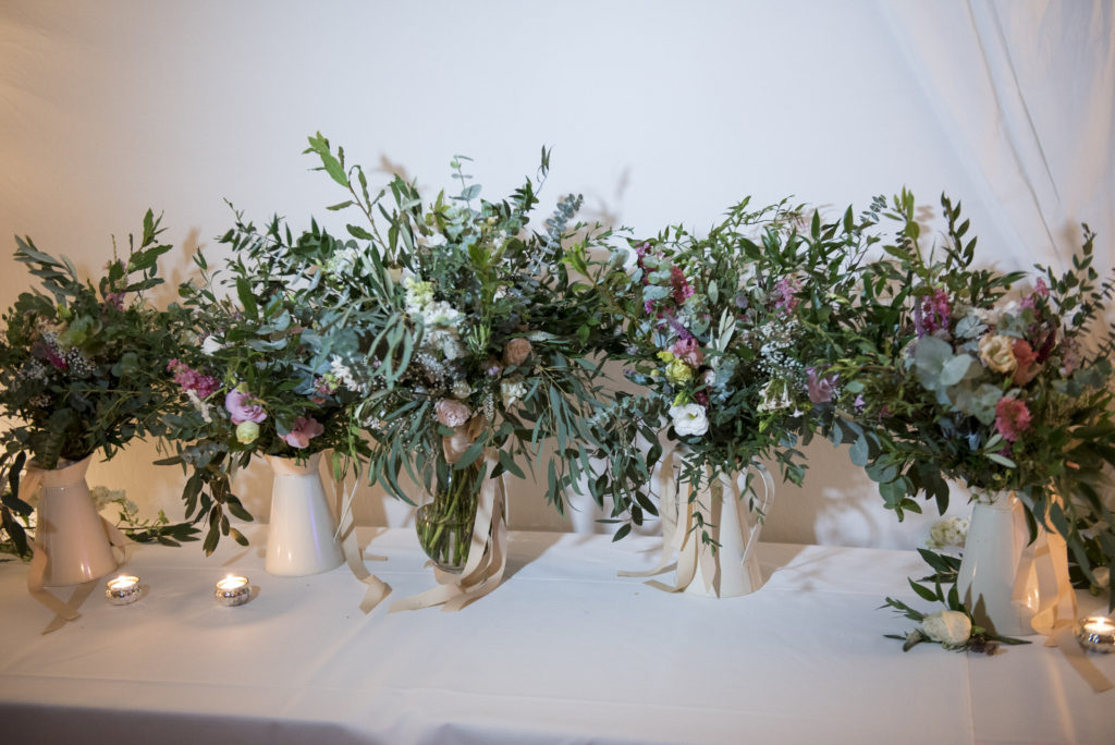 Natural, leafy large bouquets