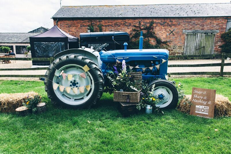 Our lovely tractor all dressed up