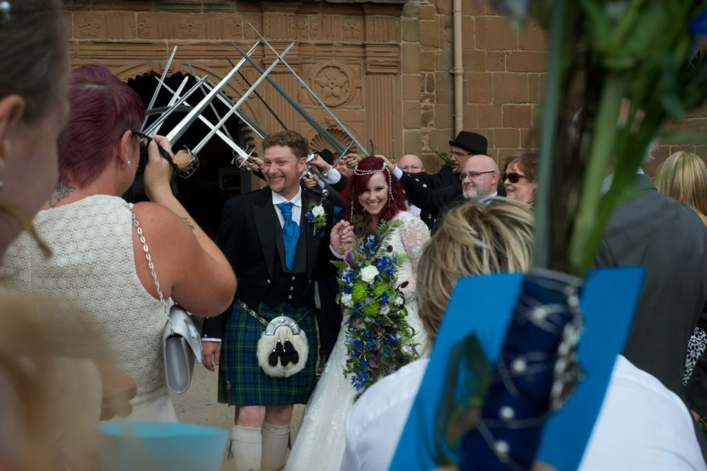 A wonderful fun vibrant wedding for a couple who devote their time to medieval re enactment days