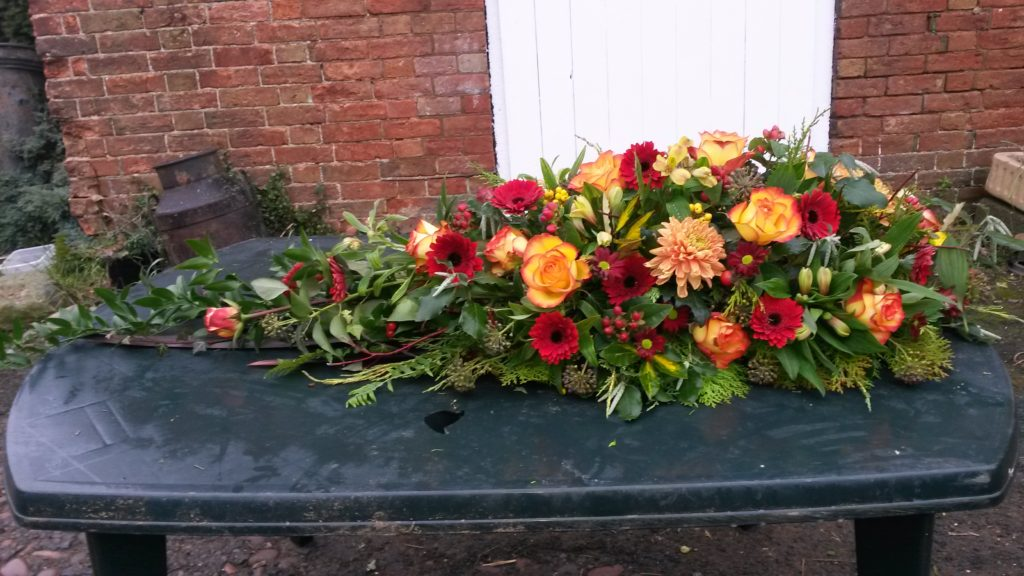 Tribute for a special Mum who loved bright coloured flowers