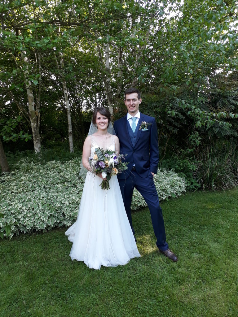 Gorgeous couple in Park Farm, Shuckburgh's lovely garden