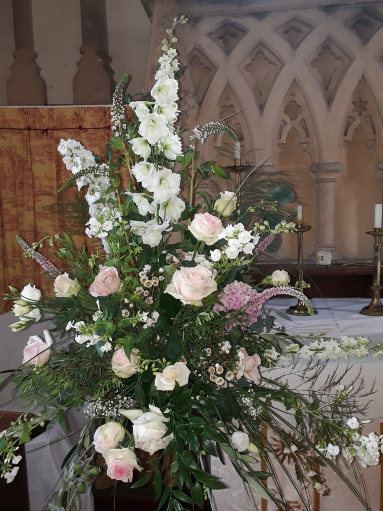 Decorated charming L shuckburgh church then moved flowers back to wonderful rustic Park Farm. July 18