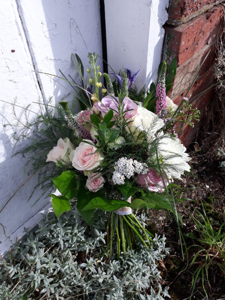 Pinks, lavender, white bouquet