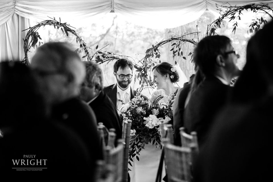 Lovely shapes from the grapevine, leaf and flower hoops backdrop, Photo: Pauly Wright