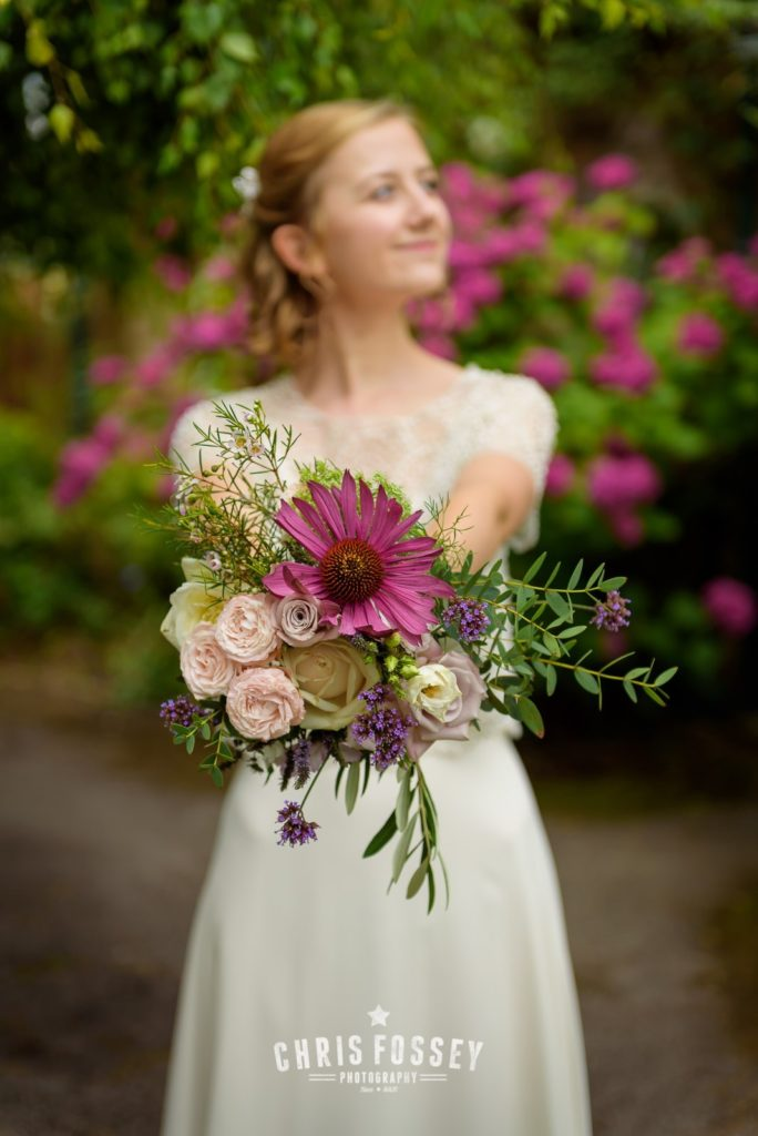 Lovely bouquets made themselves with the combination of Dutch and British grown flowers we supplied.  Photo: Chris Fossey