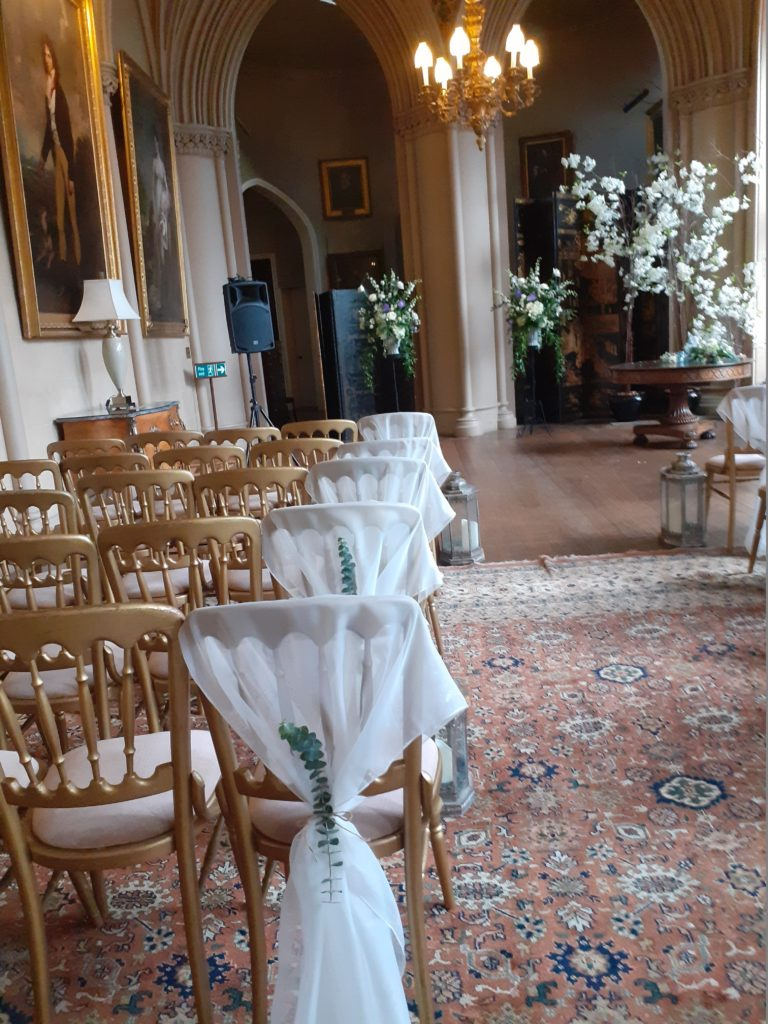 Ceremony in the ballroom of glorious Belvoir Castle