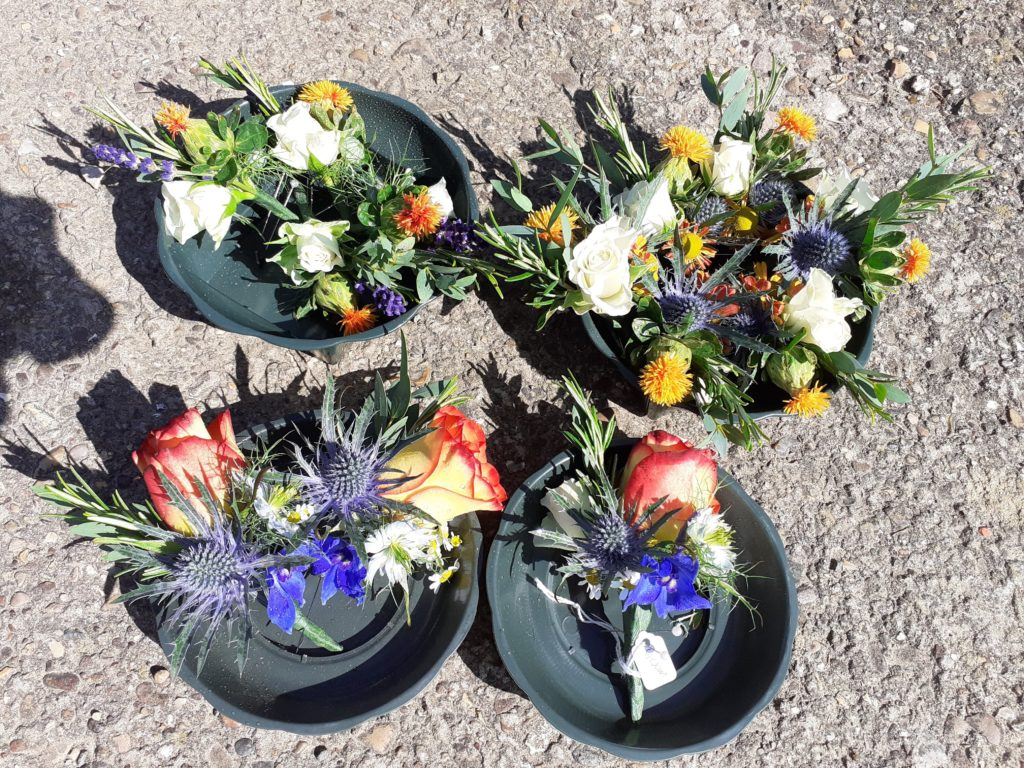 Variety of buttonholes ready to go